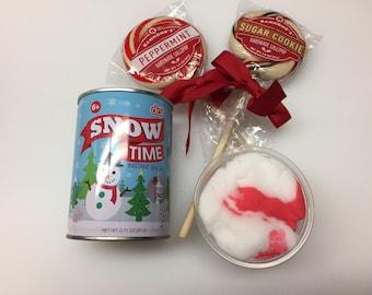 Candy Cane Twist cloud slime