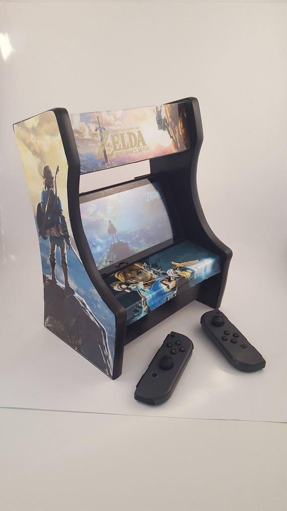 Nintendo Switch Arcade Cabinet w/ LED marquee Zelda: Breath