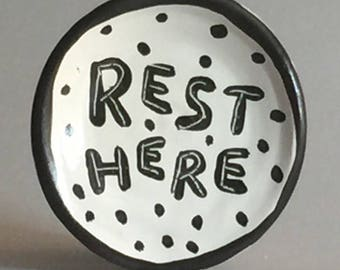 Rest Here Spoon Rest