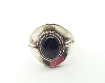 Black Onyx Sterling Silver Ring/Free Shipping US/Handmade/Vintage/ Christmas/Birthday/Valentine/Friendship Ring/Gift for Him/Gift for Her