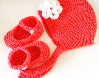 All beanie baby bonnet and shoes 3-6 months