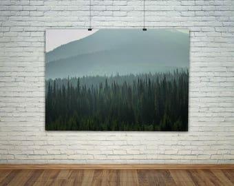 Woodland Art, Scandinavian Art, Scandinavian Print, Landscape Print, Wanderlust Art