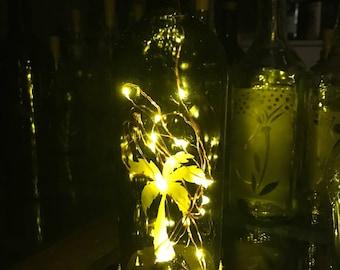 Palm Tree Bottle Lamp