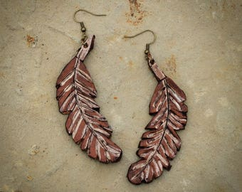 Abbie Feather Earrings | Leather Earrings | Birthday Gift | Anniversary | Gifts under 25 | Handmade | Gifts for Her