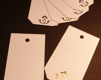 Art deco style gift tags
