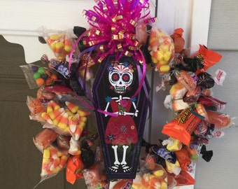 Day of the Dead Candy Wreath
