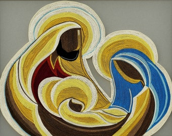 "Jesus' Birth - Quilling Wall Art Painting - 1/8""(3mm) paper strips"