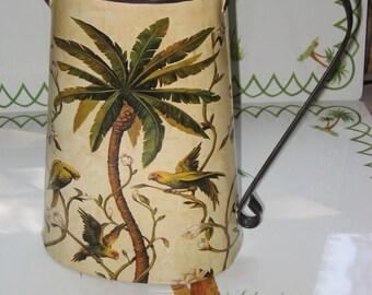 Palm Tree Metal Pitcher