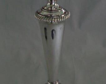 """Antique Ellis Barker Silver Plate Large Hurricane Candlestick Candle Holder 12 5/8"""""""