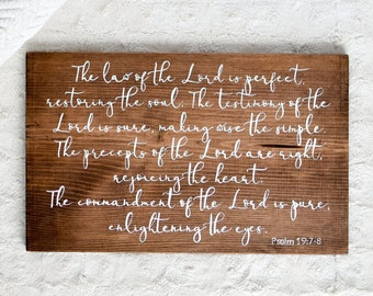 Customizable Bible Verse   Bible Verse Sign, Bible Verse Wall Art, Wedding Gift, Bible Verse, Farmhouse wall decor, Christian sign