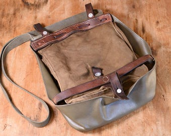Swiss Army Bag, Made in Switzerland - 1969; Satchel, Crossbody Canvas Messenger Bag