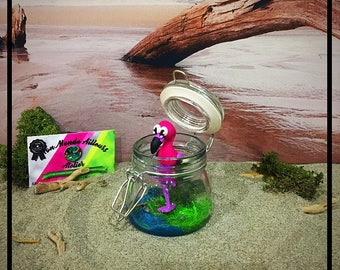 Flamingo In His Jar