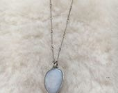 """Opal sterling silver 16"""" necklace"""