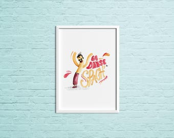 Poster illustration - dance of Spaghetti
