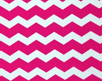Pink Chevron Cotton Fabric, Fabric by the Yard, Fabric by the Half Yard, Quilting Fabric, Apparel Fabric