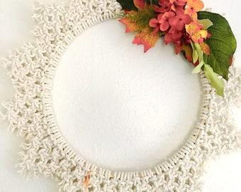 All Season Wreath//Macrame Wall Hanging//Boho Wreath//Boho Wall Hanging//Unique Wreath//Wall Hanging//Wall Decor//Home Decor//Macrame Wreath