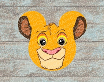 Simba Mouse Head SVG, DXF, JPEG, and Studio Downloads