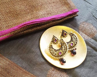 Pink & Purple Jhumka Earrings