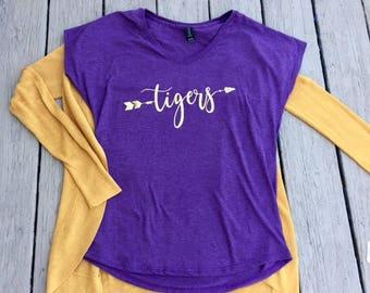 Purple & Gold Tigers Shirt!