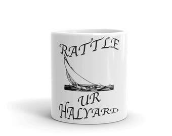 Rattle Ur Halyard Spartees distressed white Mug