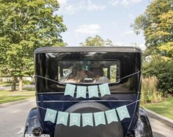 Just Married signe de voiture