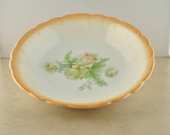 Vintage Lusterware Floral Bowl