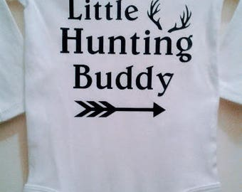 Daddy's Little Hunting Buddy Onesie