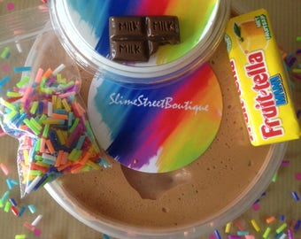 Build Your Own Choco-Caramel Frappe Slime Kit