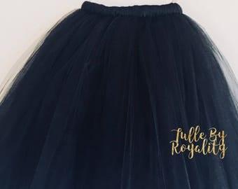 Long Tutu Skirt (Choose Your Color) Full Length Tutu, Flower Girl Tutu, Wedding Tutu, Toddler Tutu
