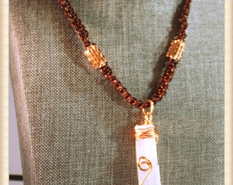 Selenite and Copper Talisman