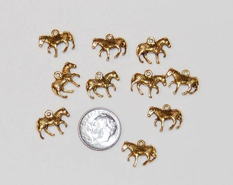 Zebra Antique Gold, 10 pieces, Free 'Shipping