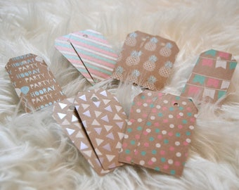 Gift tags - gift wrapping - Kraft gift Decoration