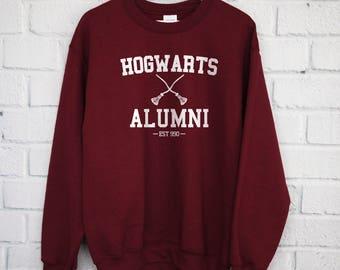 Hogwarts Alumni Sweatshirt, Harry Potter Shirt, Gryffindor Shirt, Slytherin Shirt, Hogwarts Shirt, Harry Potter Gift