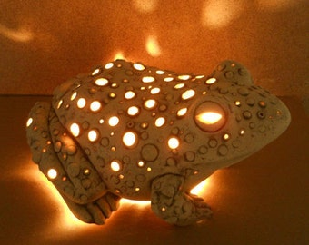 Frog Night Light / Children's Lamp / Children's Light Light / Garden Lamp /Garden decor/ Home decor
