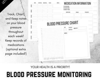 blood pressure monitor chart