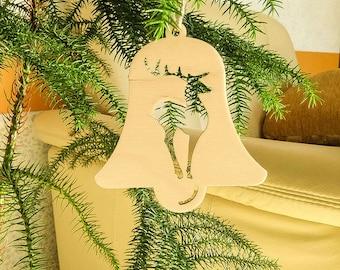 set of 6 xmas tree decors christmas tree decorations jingle bells decor deers