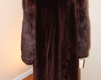 Canadian sheared beaver coat