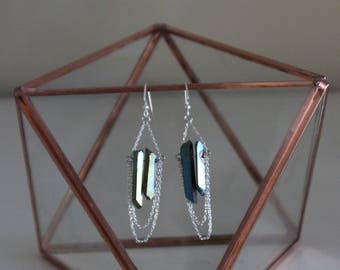 Titanium coated crystal earrings