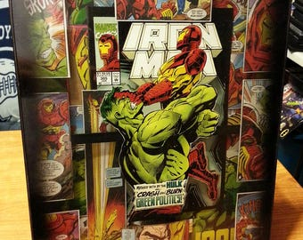 Iron Man vs The Hulk Custom (Extreme Frame) 12x16