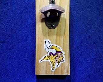 Minnesota Vikings magnetic bottle opener