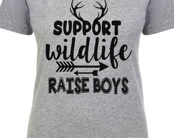 Support Wildlife Raise Boys SVG, Support Wildlife Raise Boys DXF, Raise Boys SVG