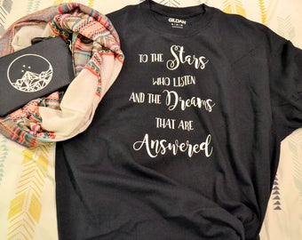 To The Stars Who Listen shirt, A Court of Mist and Fury shirt, A Court of Thorns and Roses