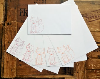 Fox Letter/Writing/Stationary Set
