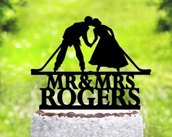 Hockey Wedding Cake Topper,Hockey Cake Topper,Wedding Cake Topper,Hockey Theme Wedding,Hockey Fan Wedding,Hockey party Cake Topper (2085)