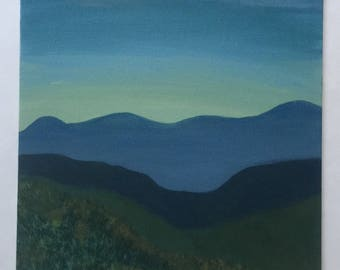 Blue Ridge Abstract Panel
