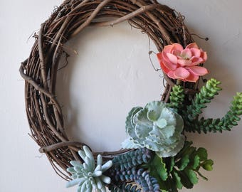 "14"" Succulent Wreath"
