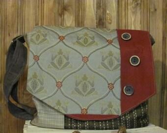 Fabric shoulder bag,