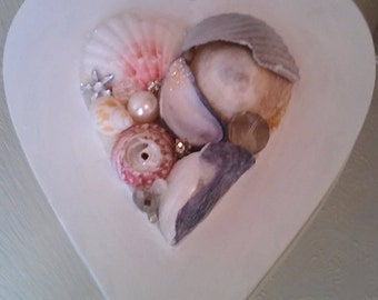 Bejeweled Shell Heart