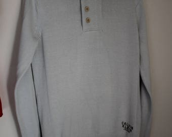 CALVIN KLEIN Golf with high cream-coloured collar size M