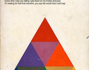 "New Order ""Bizarre Love Triangle"" Math Textbook Mashup Print"